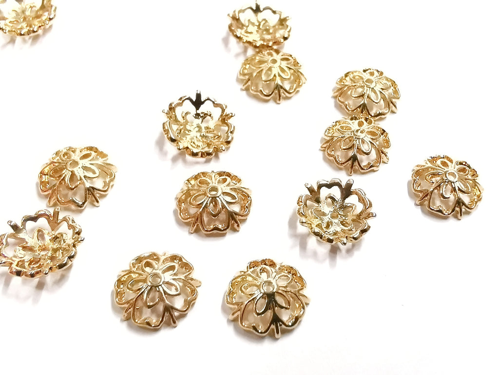 Bead Cap, Brass, 9.5mm, 10 Pieces | 銅珠蓋, 9.5mm, 10個