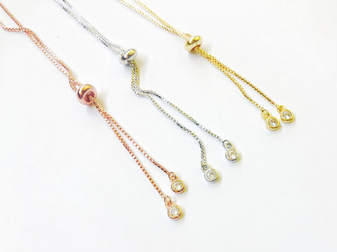 Open-end Adjustable Bracelet, Cubic Zirconia Chain End, Price Per Piece - amakeit bead 天富