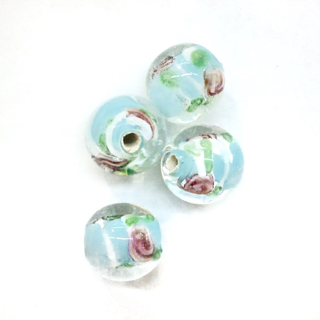 Bead, Lampwork, 11mm, Round, Price Per 4 Pieces | 琉璃珠, 11mm, 4粒