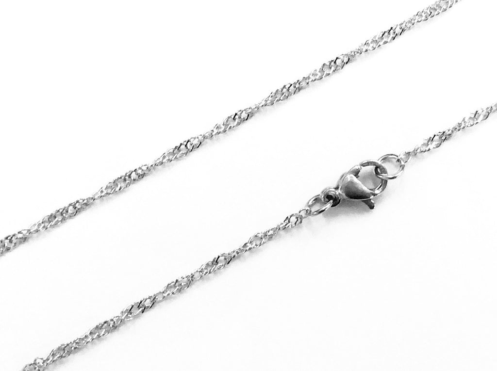 "20"" Stainless Steel Necklace, 1.8mm Singapore Chain 
