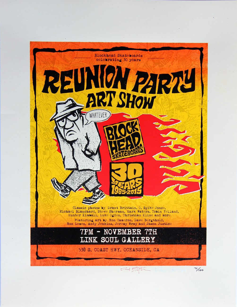 Blockhead 30 Year Reunion Party Art Print - SOLD OUT