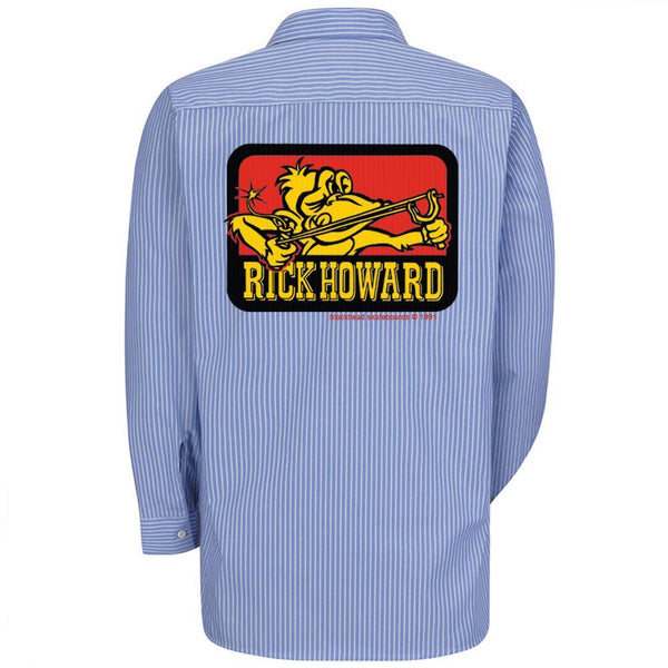 "Rick Howard monkey ""up-cycled"" work shirts (one-of-a-kind) long sleeve • in-stock now!"