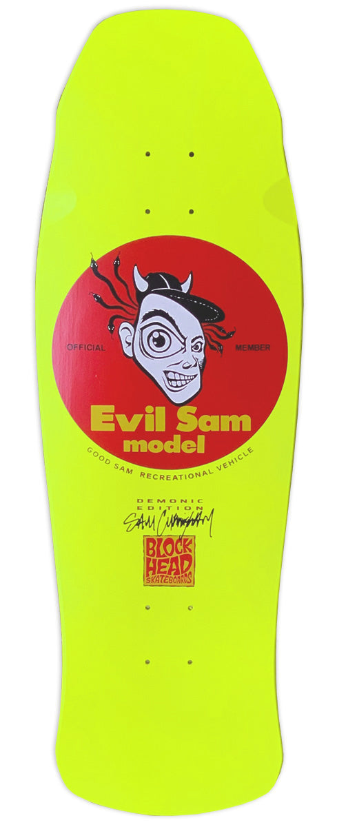 "Sam Cunningham  ""EVIL"" rider - 1988 shape and concave - SOLD OUT"