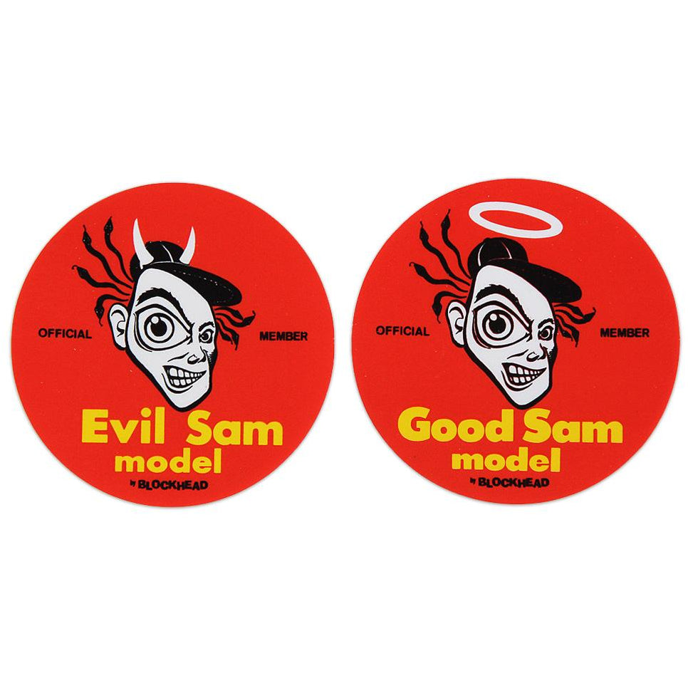 Sam Cunningham GOOD and EVIL stickers (2)