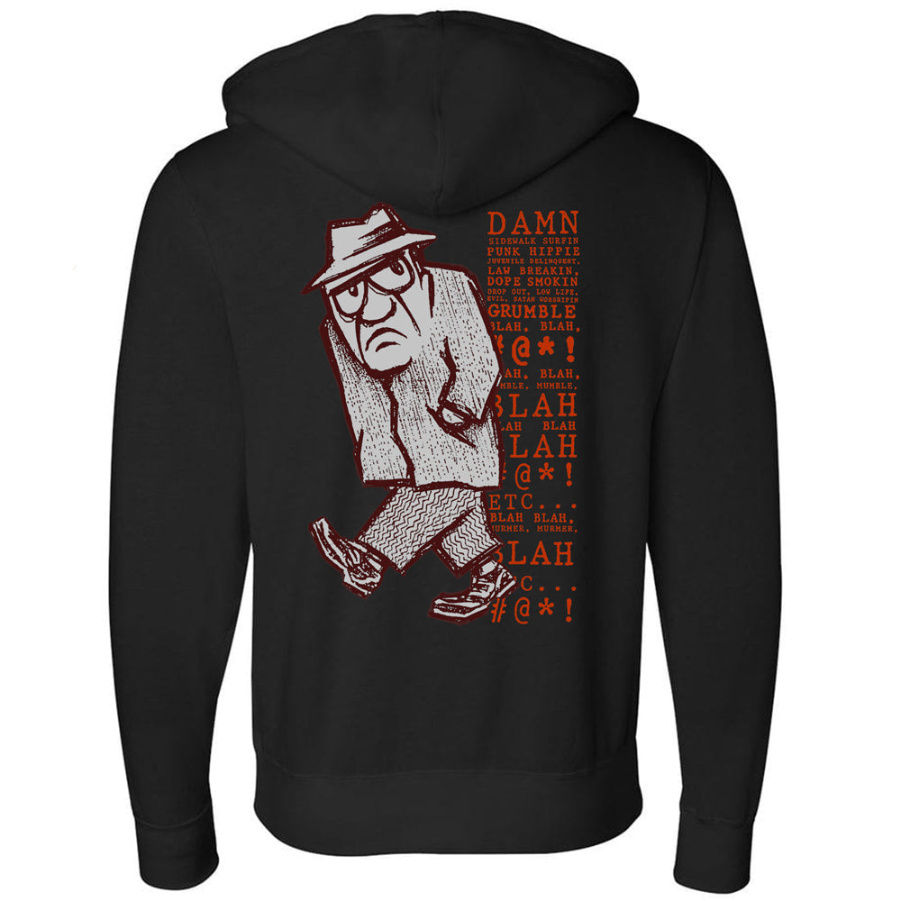 Grumpy Man Zip Hoody Sweatshirt - IN STOCK NOW!