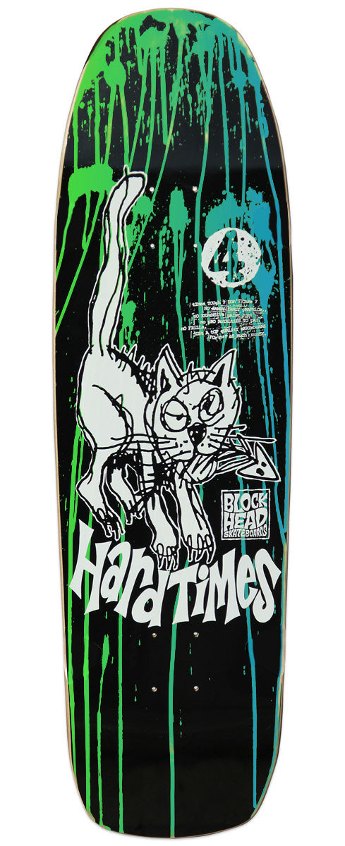 "Hard Times 4 modern 9.1"" • Day-Glo Acid Splatter Customs - Only a few left!"