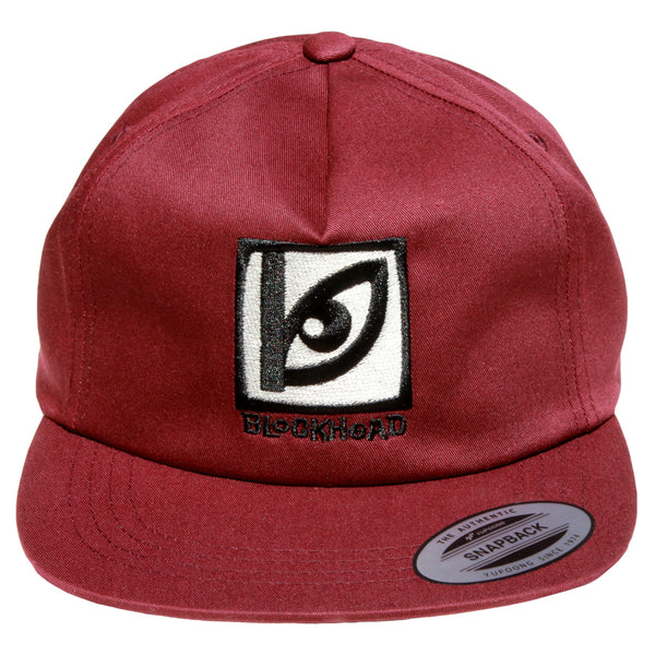 Blockhead Eye Logo unstructured hat - maroon