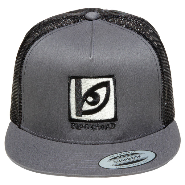 Blockhead Eye Logo trucker hat - 3 color options