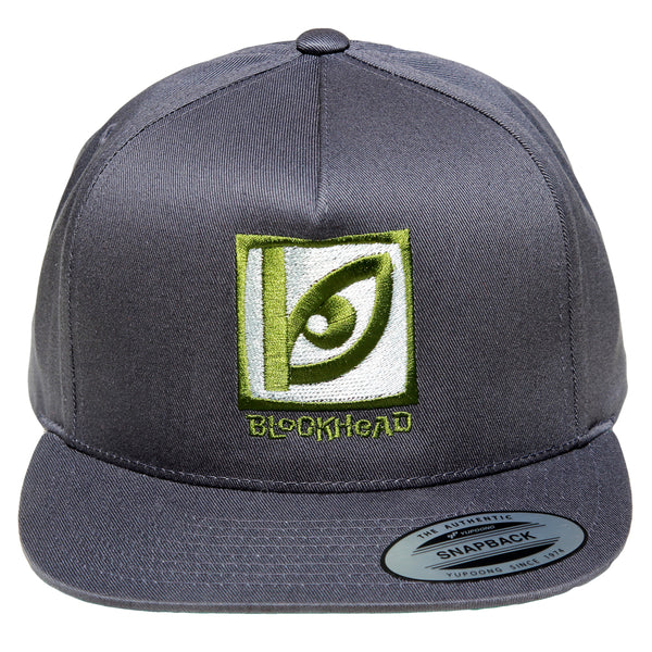 Blockhead Eye Logo 5-panel hat - charcoal