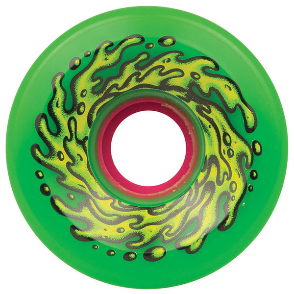 66mm OG Slime 78a Slime Balls Cruiser Wheels - Green