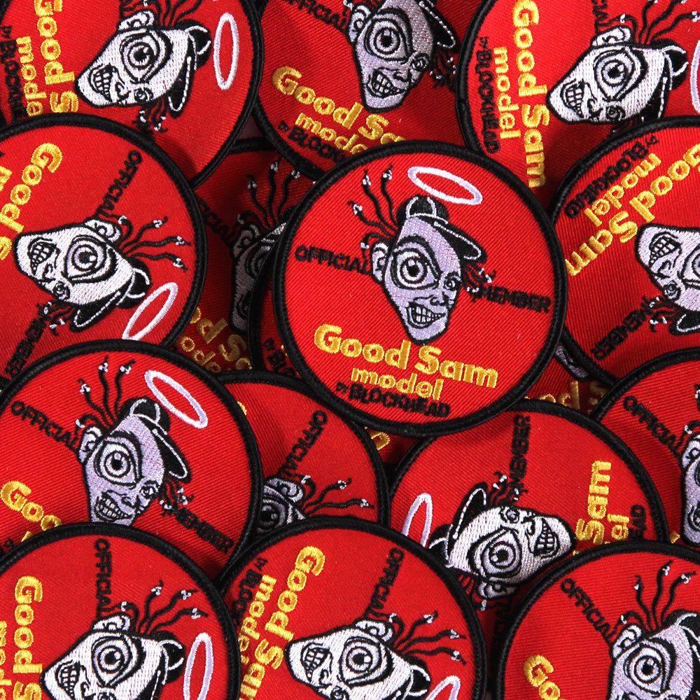 "Sam Cunningham ""GOOD"" embroidered patch"