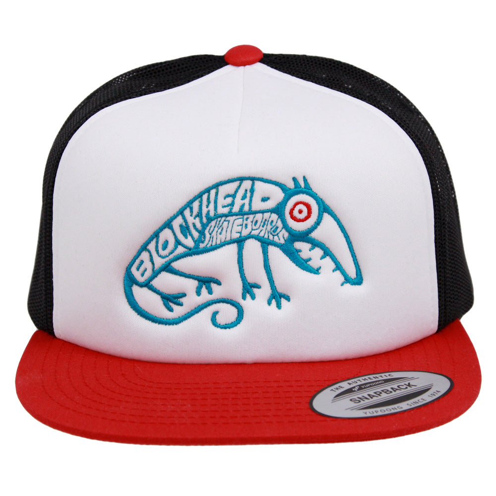 Skate Rat Hat - Mesh Trucker - Black or Red/ White/ Black
