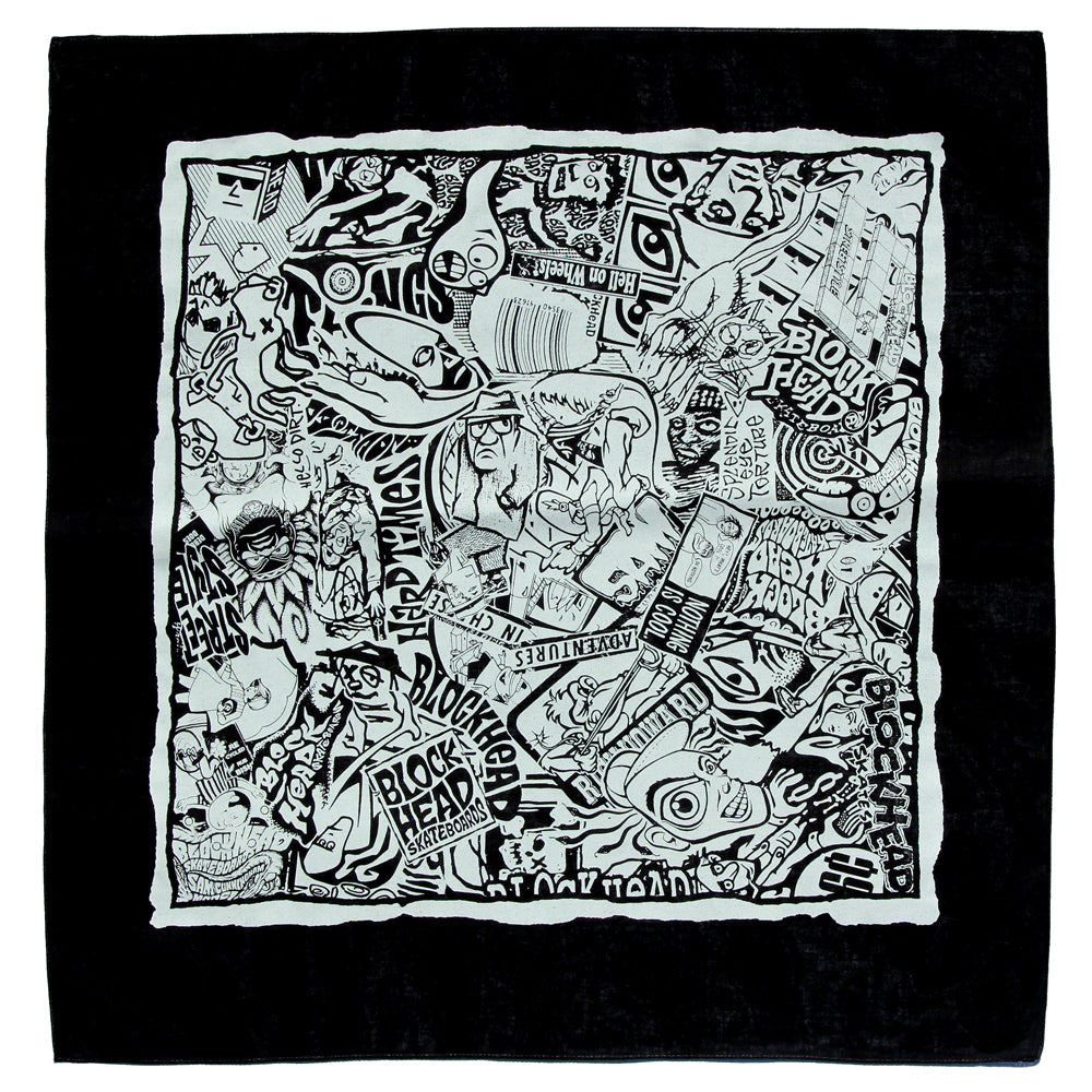 Blockhead bandana - 35 year collage - NEW COLORS!