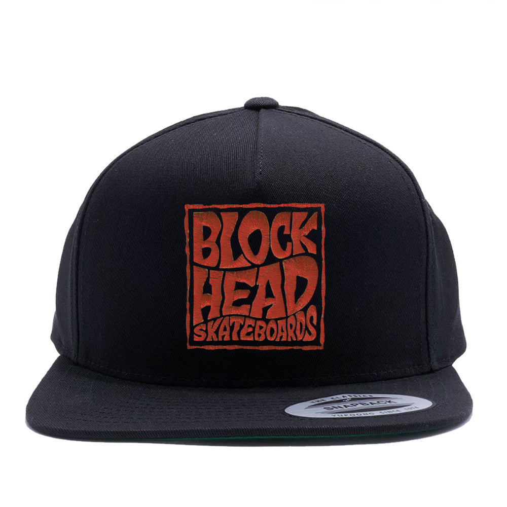 5-panel Snapback Hat - Blockhead Square Logo • SOLD OUT