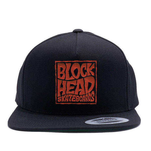 5-panel Snapback Hat - Blockhead Square Logo • pre-order now