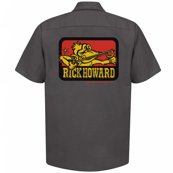 "Rick Howard monkey ""up-cycled"" work shirts (one-of-a-kind) short sleeve • in-stock now!"