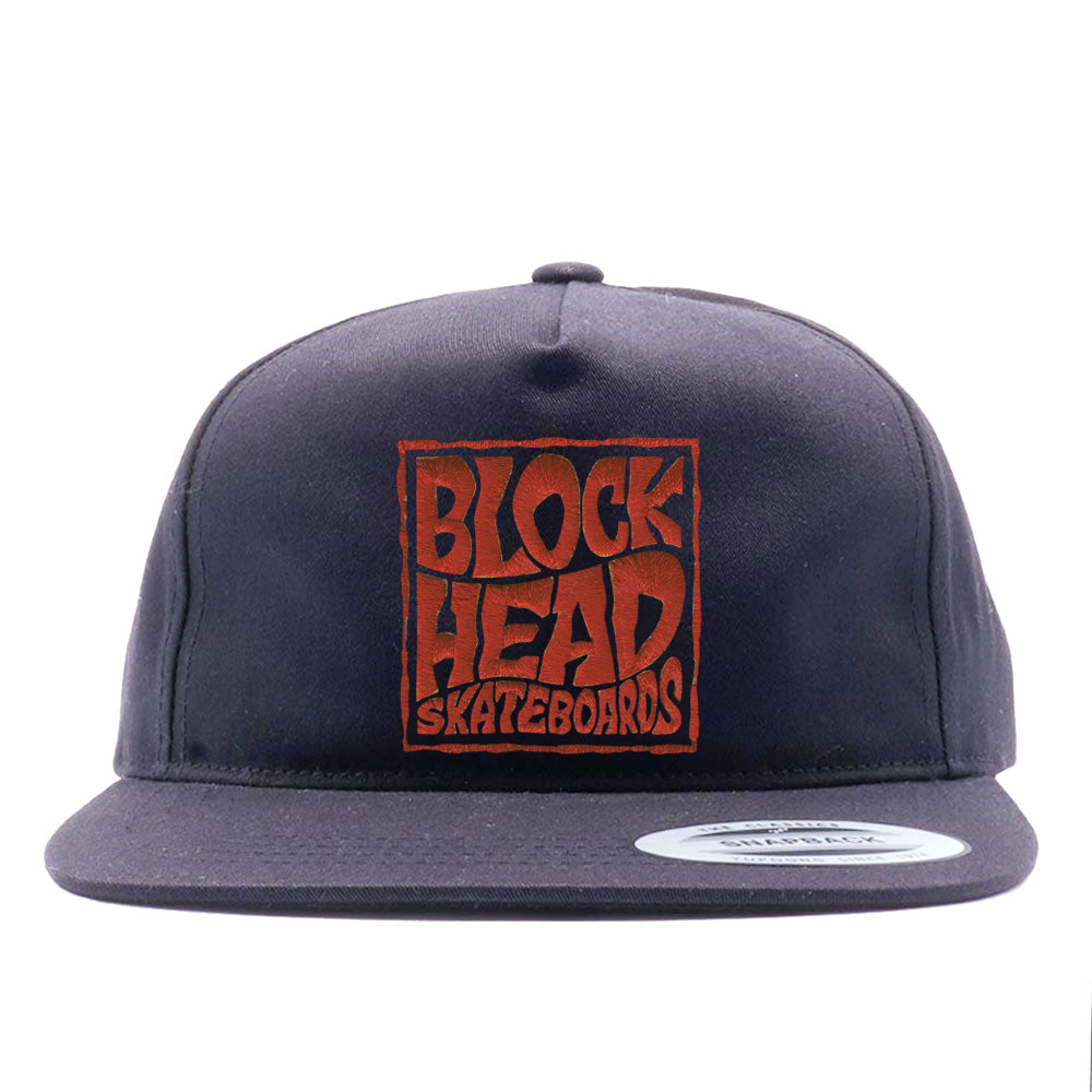Unstructured Snapback Hat - Blockhead Square Logo
