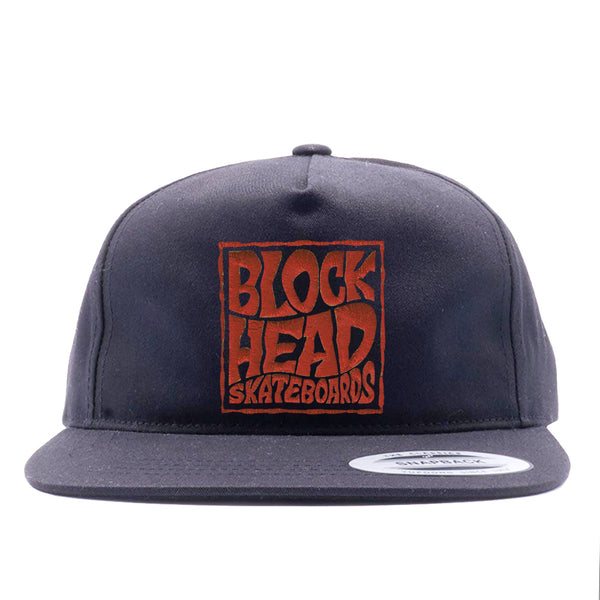 Unstructured Snapback Hat - Blockhead Square Logo • pre-order now