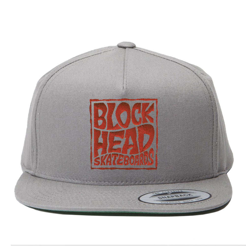 491f00495c1 5-panel Snapback Hat - Blockhead Square Logo • SOLD OUT ...