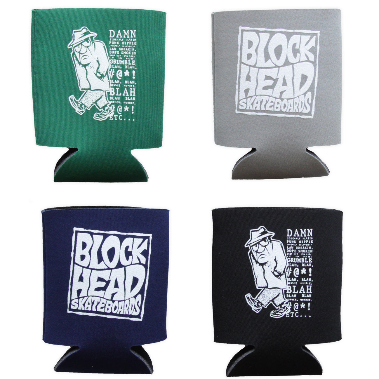Blockhead Grumpy can koozies - SOLD OUT