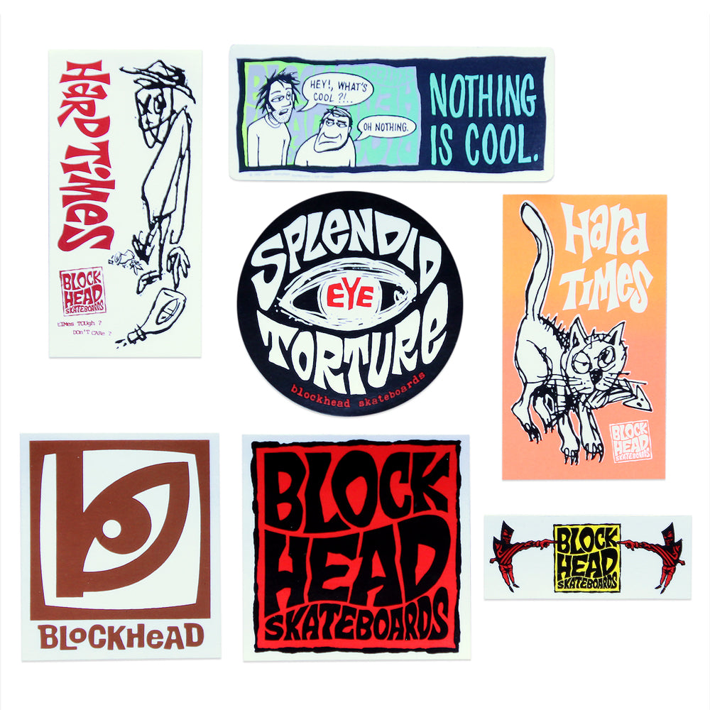 "Blockhead ""Splendid Cool Times"" - assorted stickers"