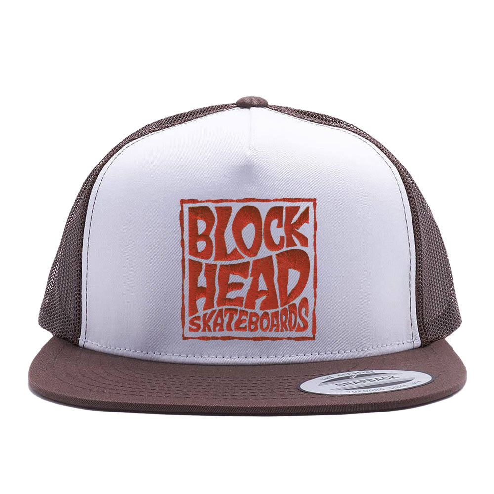 00972bc4bf7 Trucker Snapback Hat - Blockhead Square Logo • in stock now ...