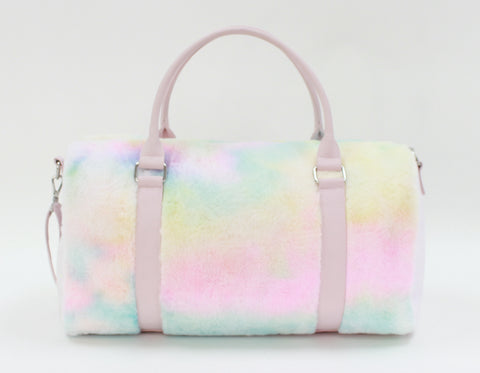 Cotton Candy Faux Fur Duffle - American Jewel - yummy gummy