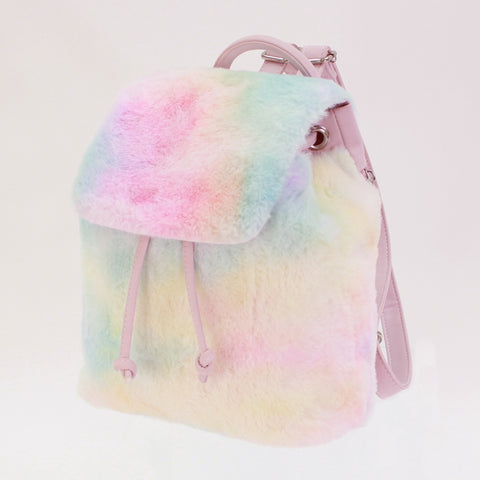 Tiny Cotton Candy Faux Fur Backpack - American Jewel - yummy gummy