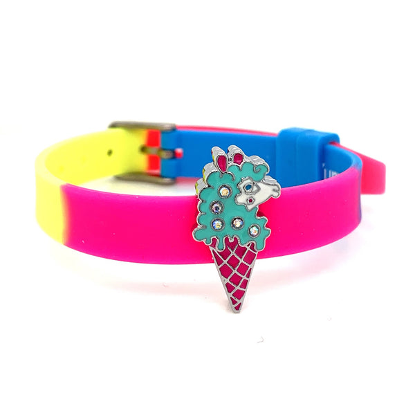 Single Yummy Gummy Llama Ice Cream Bracelet - American Jewel - yummy gummy