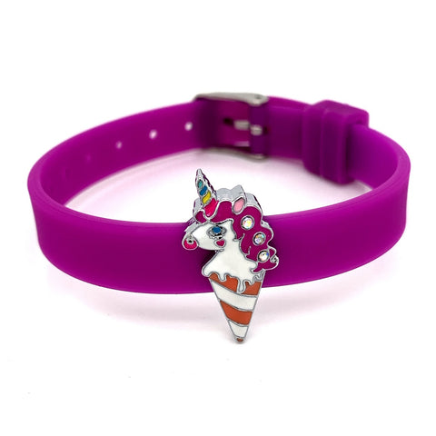 Single Yummy Gummy Unicorn Ice Cream Bracelet - American Jewel - yummy gummy
