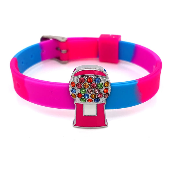 Single Yummy Gummy Pink Bubblegum Machine Bracelet - American Jewel - yummy gummy