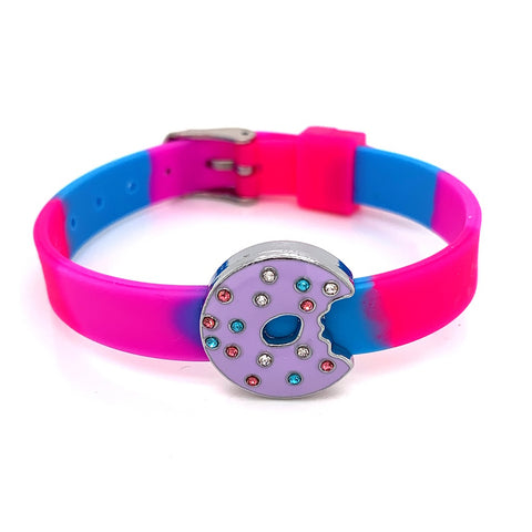 Single Yummy Gummy Purple Sparkle Doughnut Bracelet - American Jewel - yummy gummy