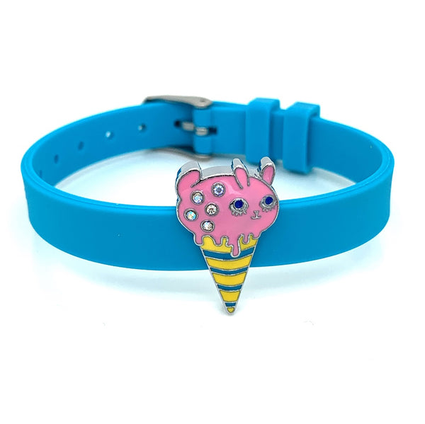 Single Yummy Gummy Pink Piggy Ice Cream Bracelet - American Jewel - yummy gummy