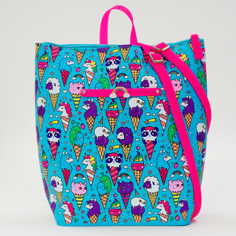 Blue Raspberry Ice Cream Yummy Gummy Zip Backpack - American Jewel - yummy gummy