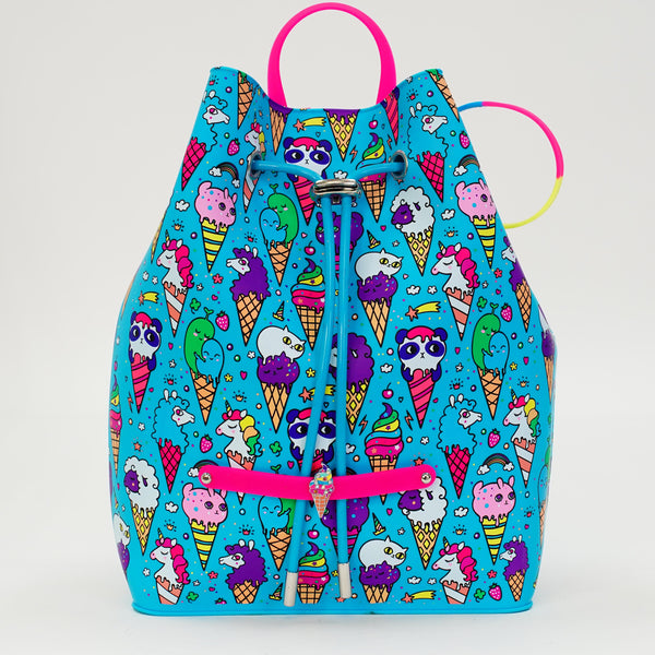 Blue Raspberry Ice Cream Yummy Gummy Pull Backpack - American Jewel - yummy gummy