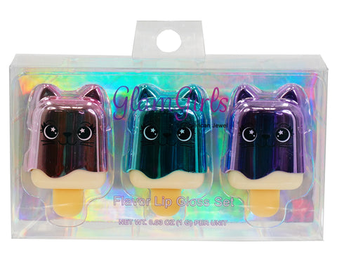 Kitty Trio Lip Balm Set - American Jewel - yummy gummy