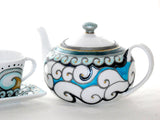Porcelain Teapot Hand Painted Custom Designed Serveware
