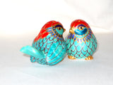 Custom Porcelain Bird Salt Pepper Shakers Tabletop Decor Hand Painted Personalized