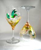 Hummingbird Wine Goblets Made To Order