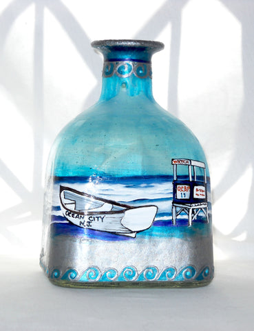 Ocean City Beach Theme Sunny Beach Patron Bottle - sackettdoodles