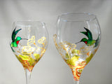Hummingbird Wine Goblets Made To Order - sackettdoodles