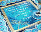 Poem Wedding Plate Hand Painted Custom Platter - sackettdoodles