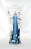 Lighthouse Shot Glass Hand Painted Barware - sackettdoodles