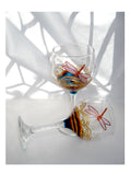 Patron Decanter Hand Painted Dragonfly Serving Set - sackettdoodles