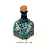 Sea Turtle Patron Bottle Decanter Art on Glass Hand Painted