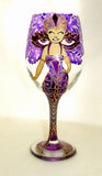 Bridal Goblets Made to Order Individual Design Novelty Costume Themed Glasses Hand Painted Glassware Art on Glass ~ Singles
