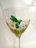 Flying Hummingbird Goblets Hand Painted Made To Order