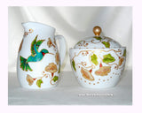 Hummingbird Cream and Sugar Bowl Porcelain Set - sackettdoodles