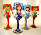 Novelty Goblets Individualized Design Hand Painted Glassware Art on Glass CUSTOM ORDER