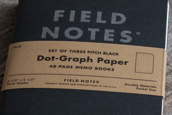 Field Notes Dot Graph Pitch Black Memo Book from Secret Lentil
